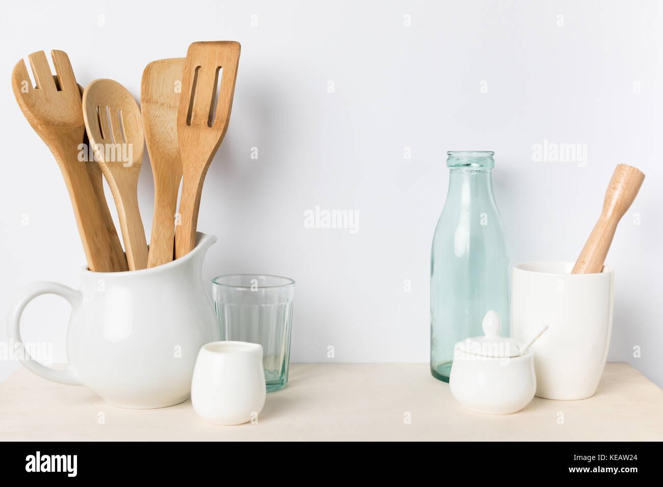 empty kitchen utensils - Stock Image