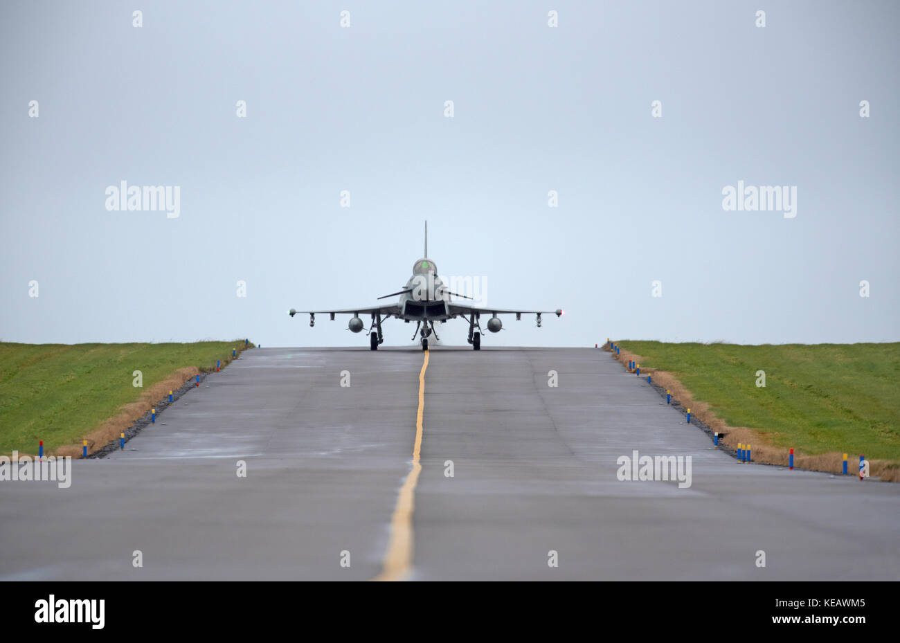 RAF Eurofighter Typhoon Aircraft engaged in the 2017 NATO Joint Warrior Exercise held off the North & West coast - Stock Image