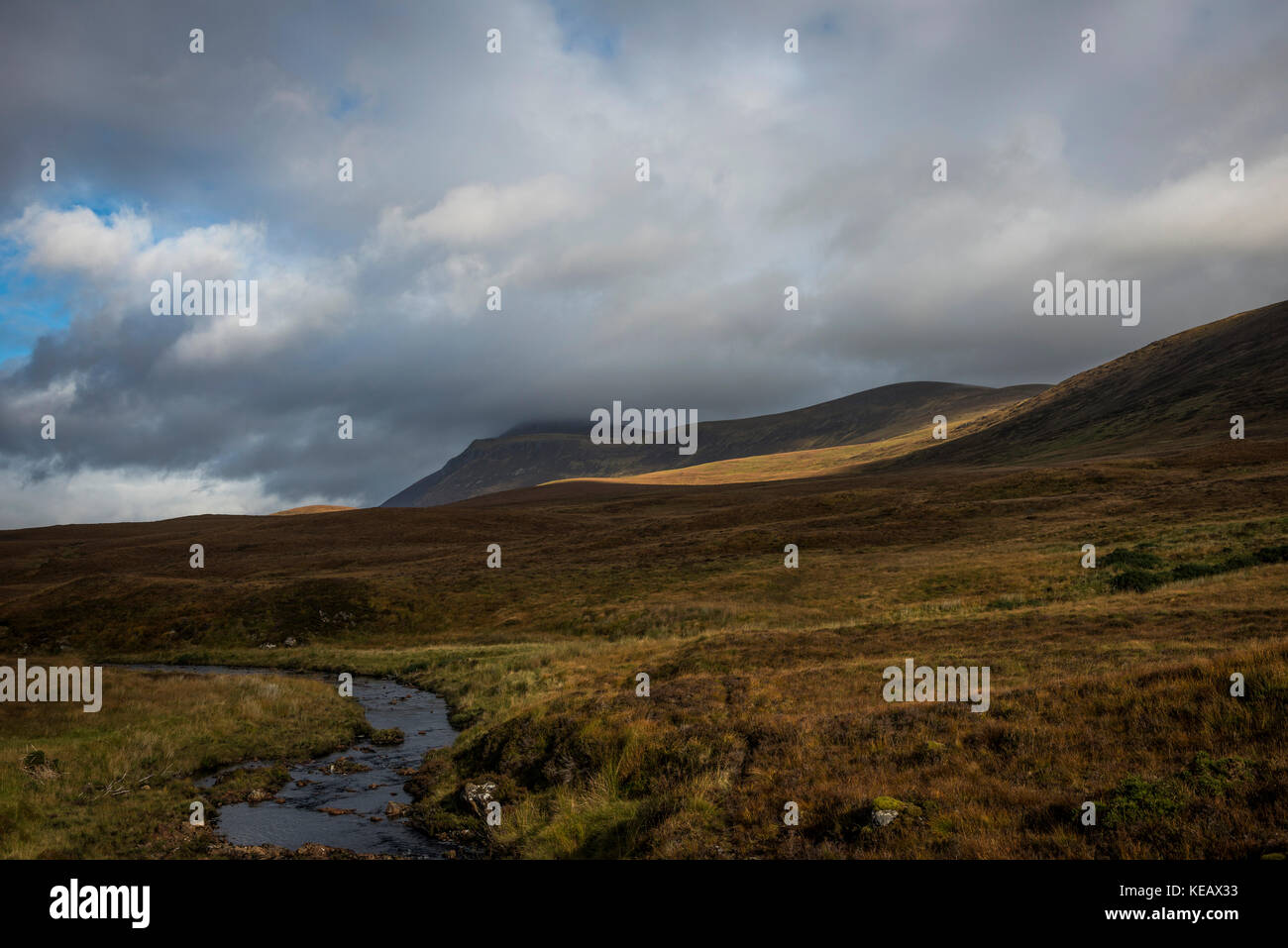 Ben Klibreck mountain near Altnaharra in Sutherland, Scottish Highlands, UK Stock Photo