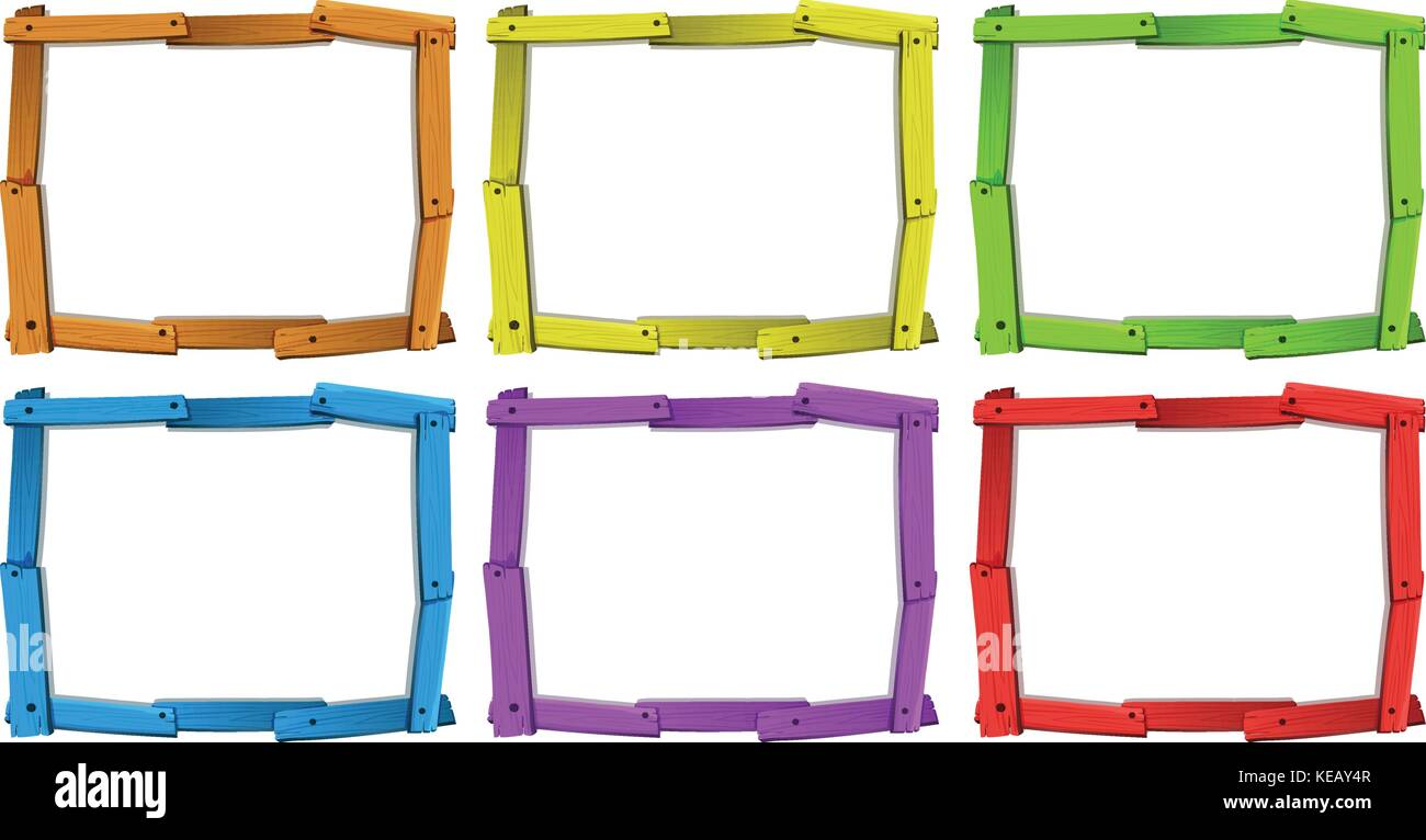 Wooden Picture Frames Picture Frame Stock Vector Images - Alamy