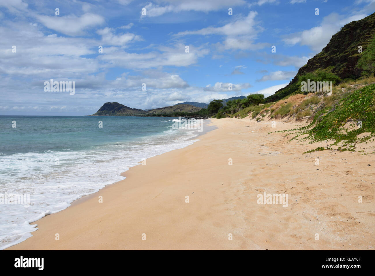 Nanakuli Beach - Oahu, HawaiiStock Photo