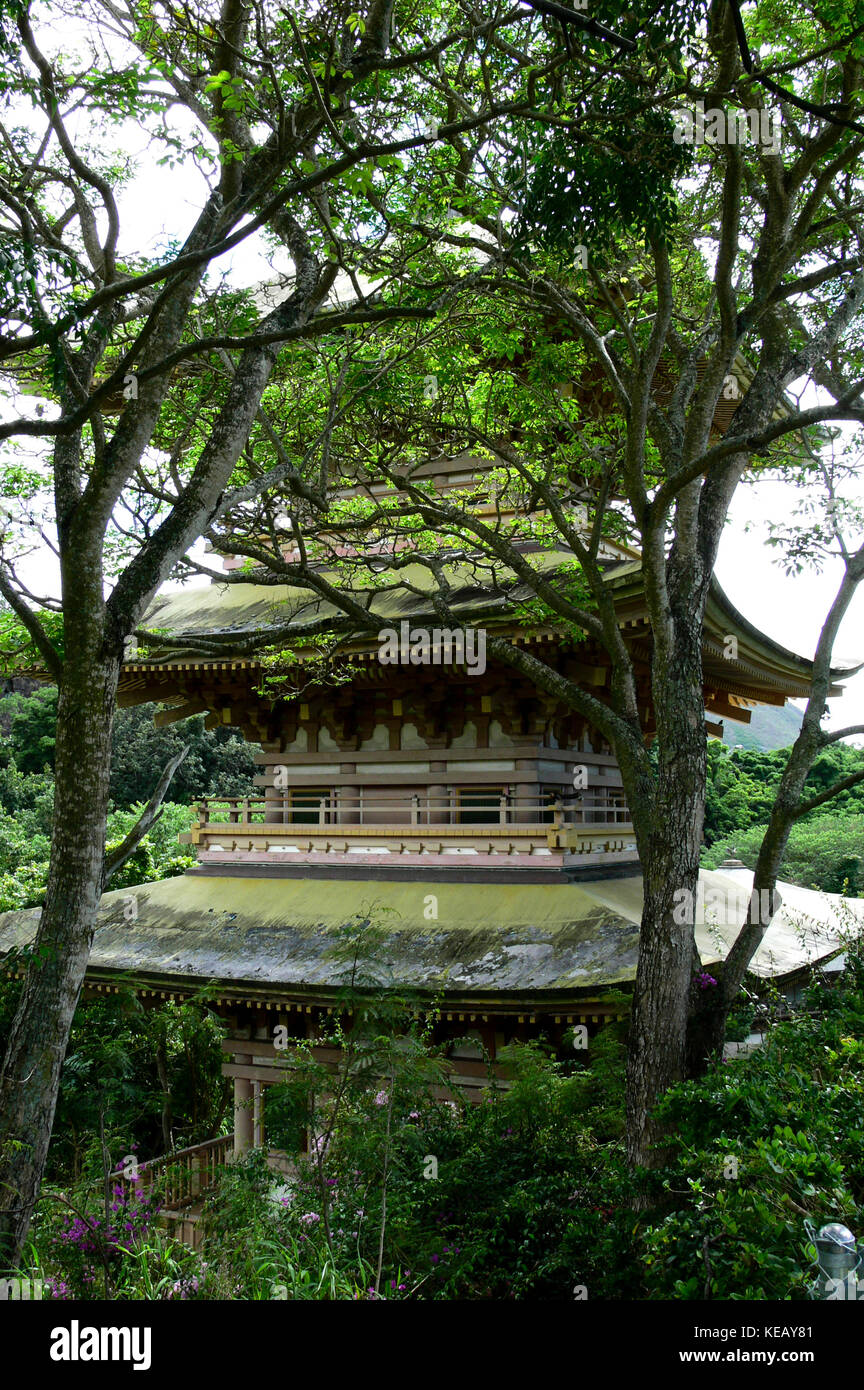 Sanju (Nuuanu) Pagoda - Oahu, HawaiiStock Photo