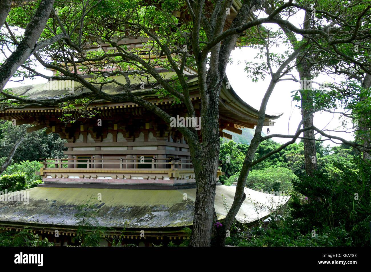 Sanju (Nuuanu) Pagoda - Oahu, Hawaii - Stock Image