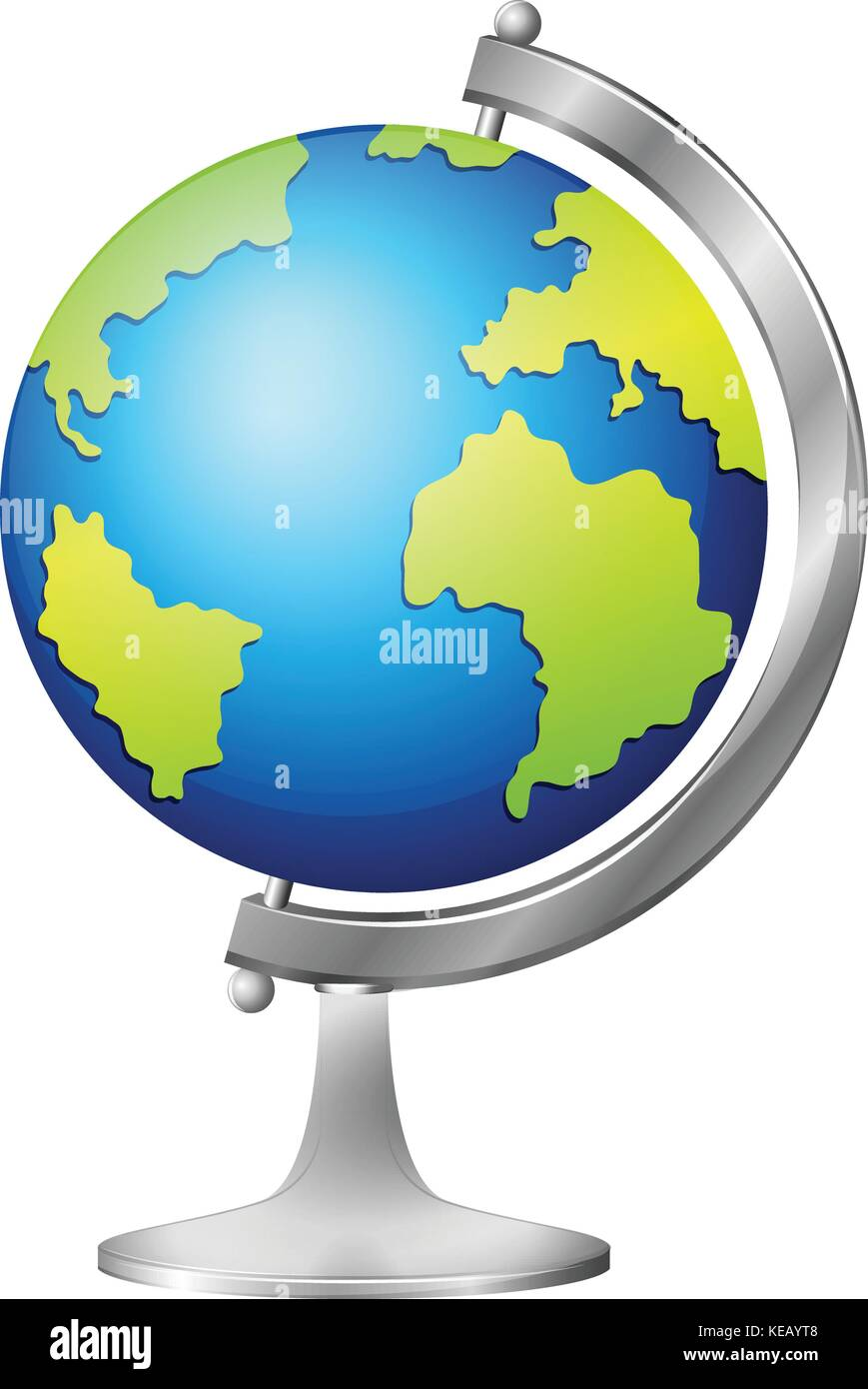 Close up globe and spinning core - Stock Vector