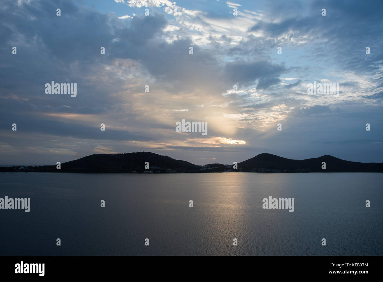 Noumea, New Caledonia landscape with the Pacific Ocean and sunset sky with clouds. - Stock Image