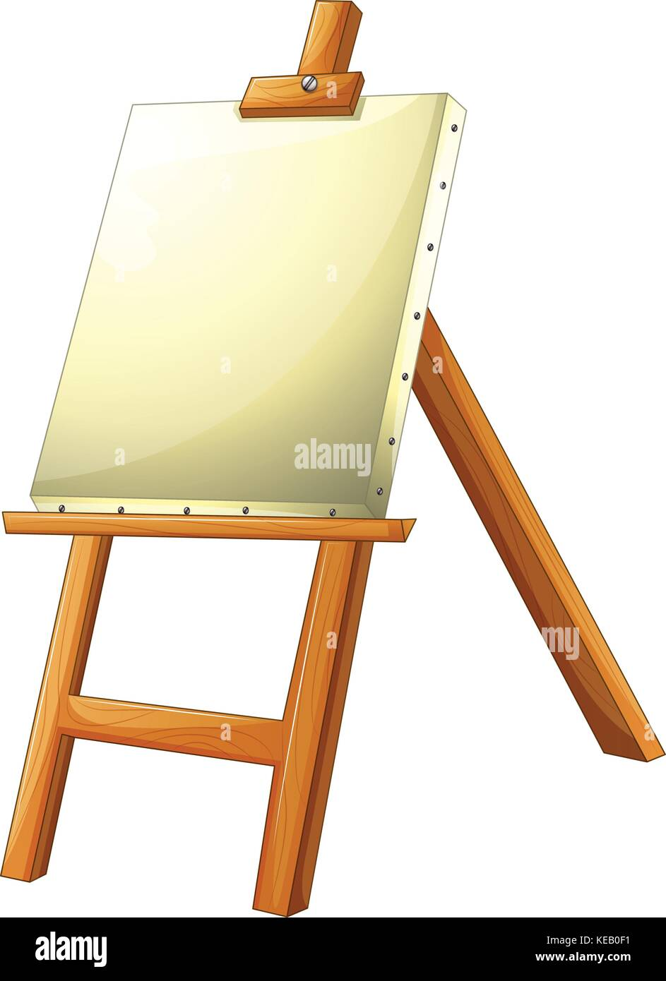 Blank Canvas On Easel Stock Vector Images - Alamy
