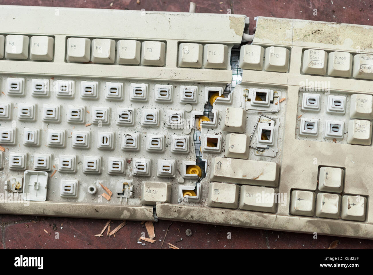 Electronic Scrap Keyboard Stock Photos Computer Diagram Kids Keyboards For Old Broken Pc Image
