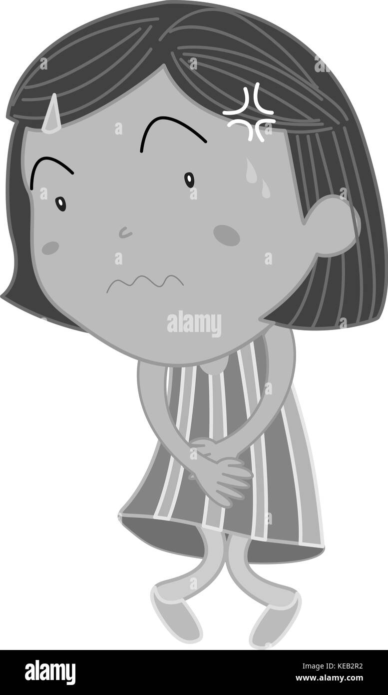 stomachache black and white stock photos images alamy https www alamy com stock image girl in striped skirt having stomachache 163742182 html