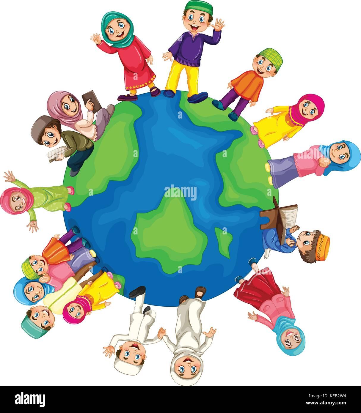 Many muslim around the world Stock Vector Image & Art   Alamy