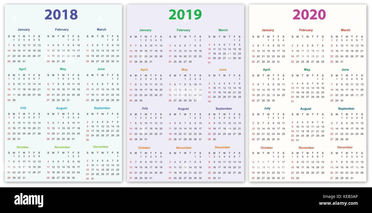 2020 Ap Calendar 12 months Calendar Design 2018 2019 2020 printable and editable
