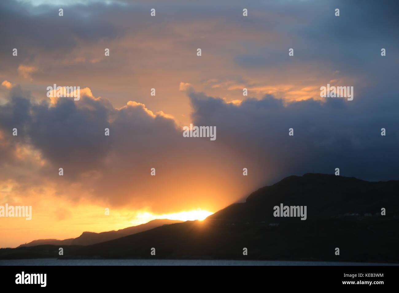 Sky view in Ireland - Stock Image