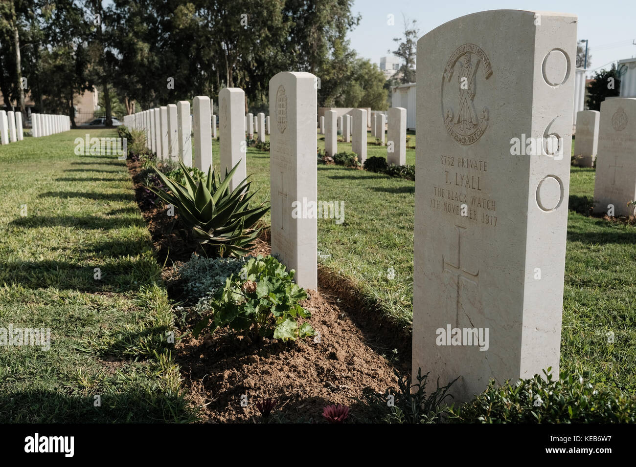 The Commonwealth War Graves Commission Cemetery serves as the final resting place of 1,241 Australian, New Zealand - Stock Image