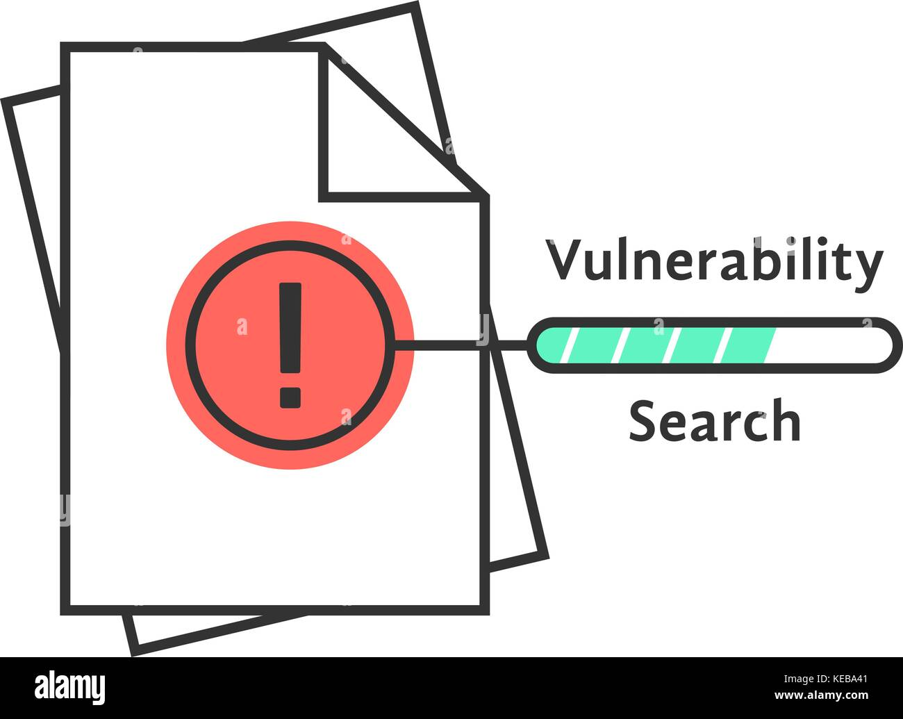 vulnerability search thin line icon - Stock Vector