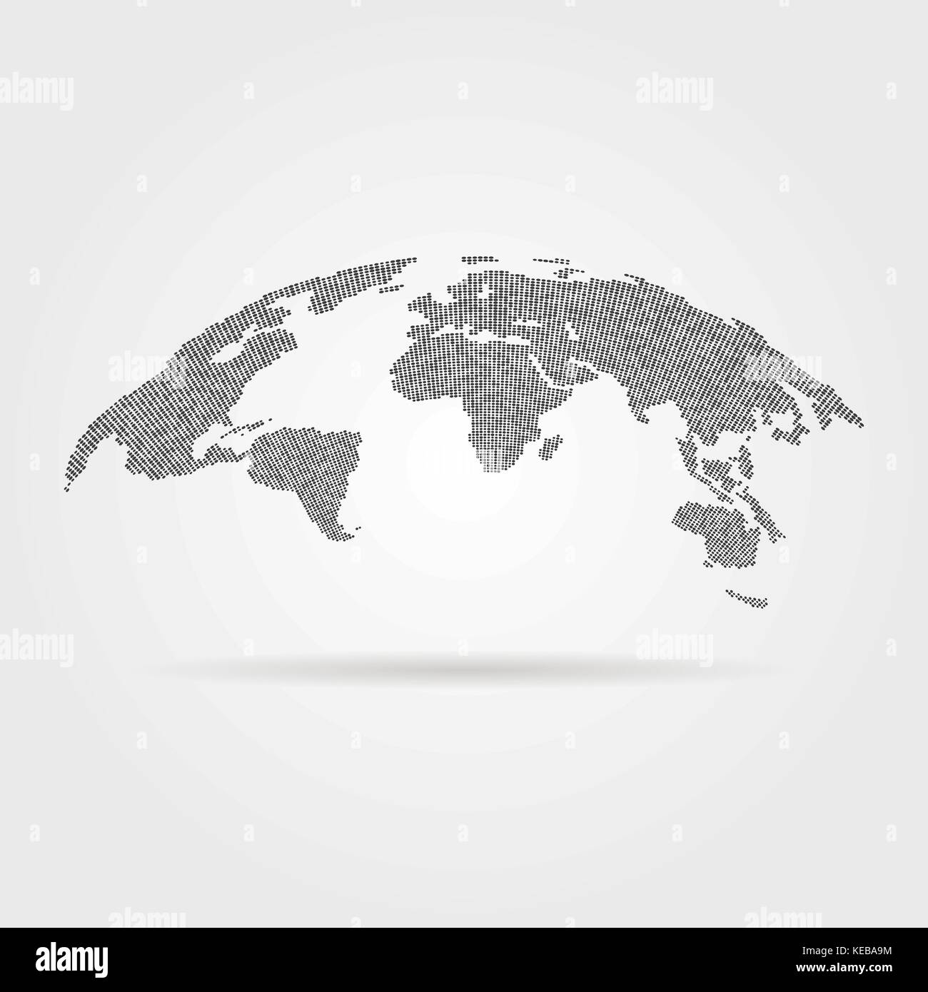 black global world map from points - Stock Vector