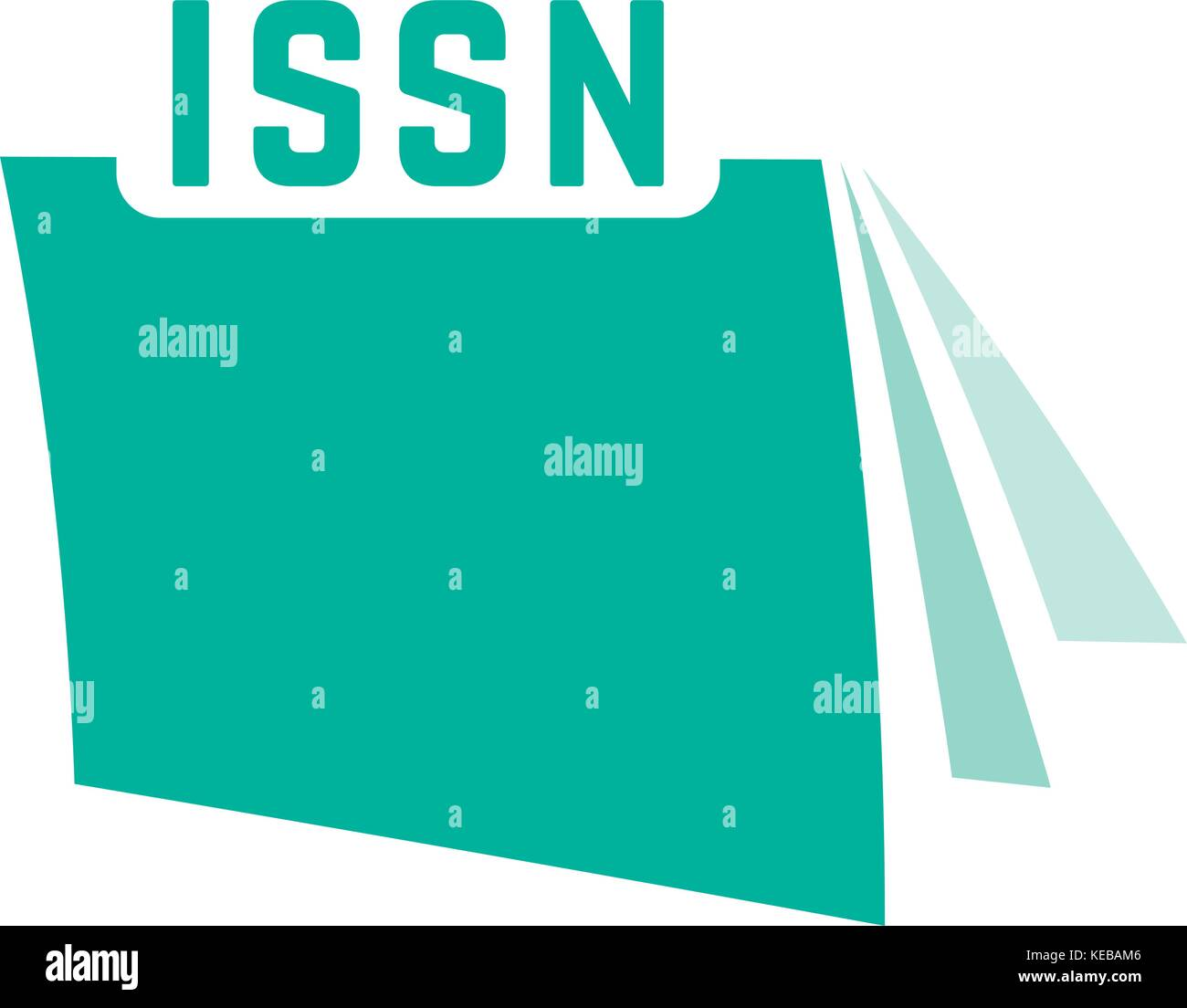 green issn with journal icon - Stock Image