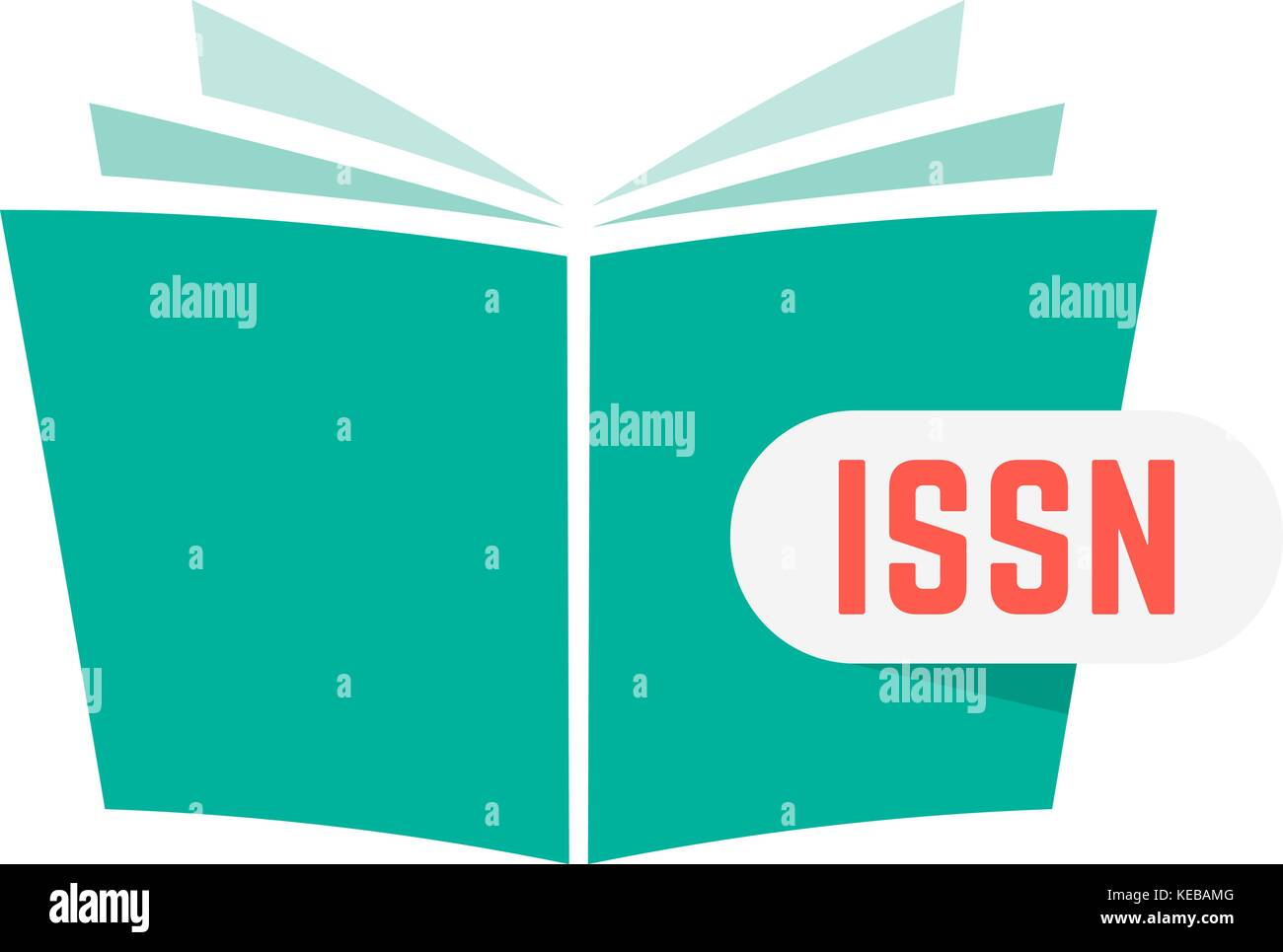 issn sign with green book - Stock Image