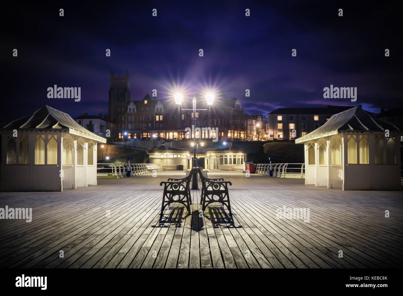 Cromer has one of the best, and flourishing, piers in England and the only surviving end of pier show in Europe. - Stock Image