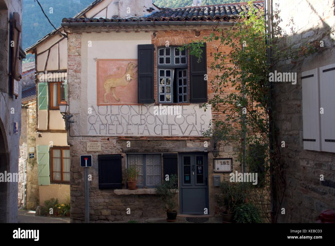Rustic Restaurant Exterior Saint Antonin Noble Val France