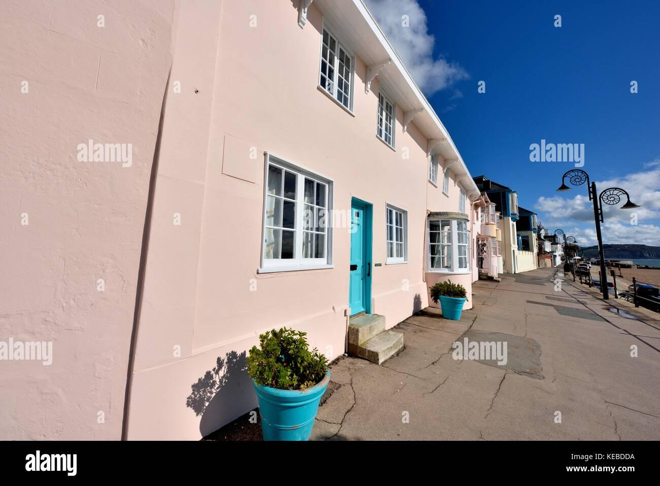 Awesome Seaside Holiday Cottages Lyme Regis Dorset England Uk Stock Home Remodeling Inspirations Genioncuboardxyz