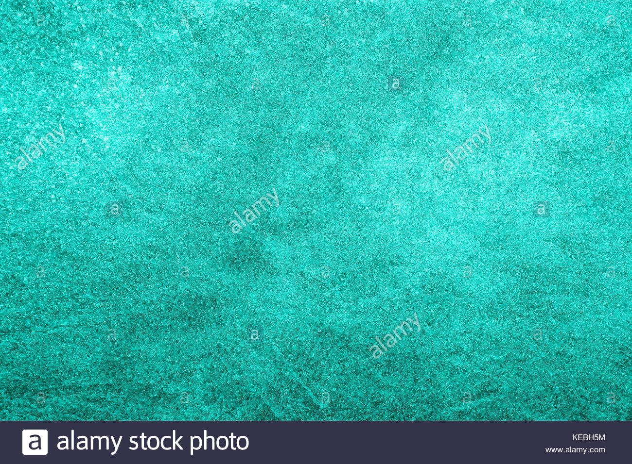 Azure blue color abstract ice texture copy space background. - Stock Image
