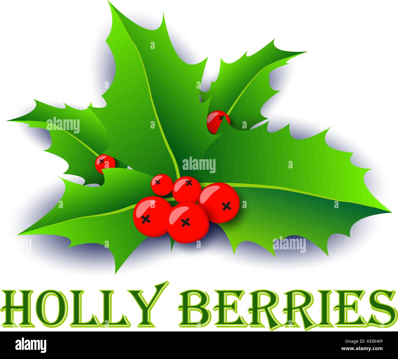 Holly berries xmas poster. - Stock Vector