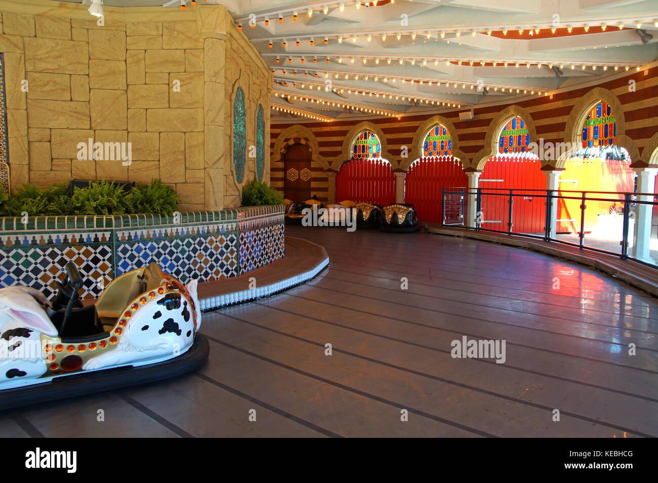 Bumper cars in amusement park of Tivoli Gardens in Copenhaguen - Stock Image