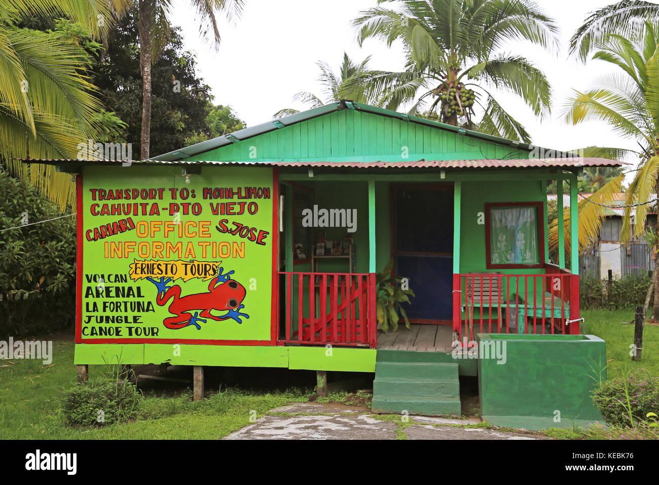Ernesto's Tours, Tortuguero village centre, Limón province, Caribbean Sea, Costa Rica, Central America - Stock Image