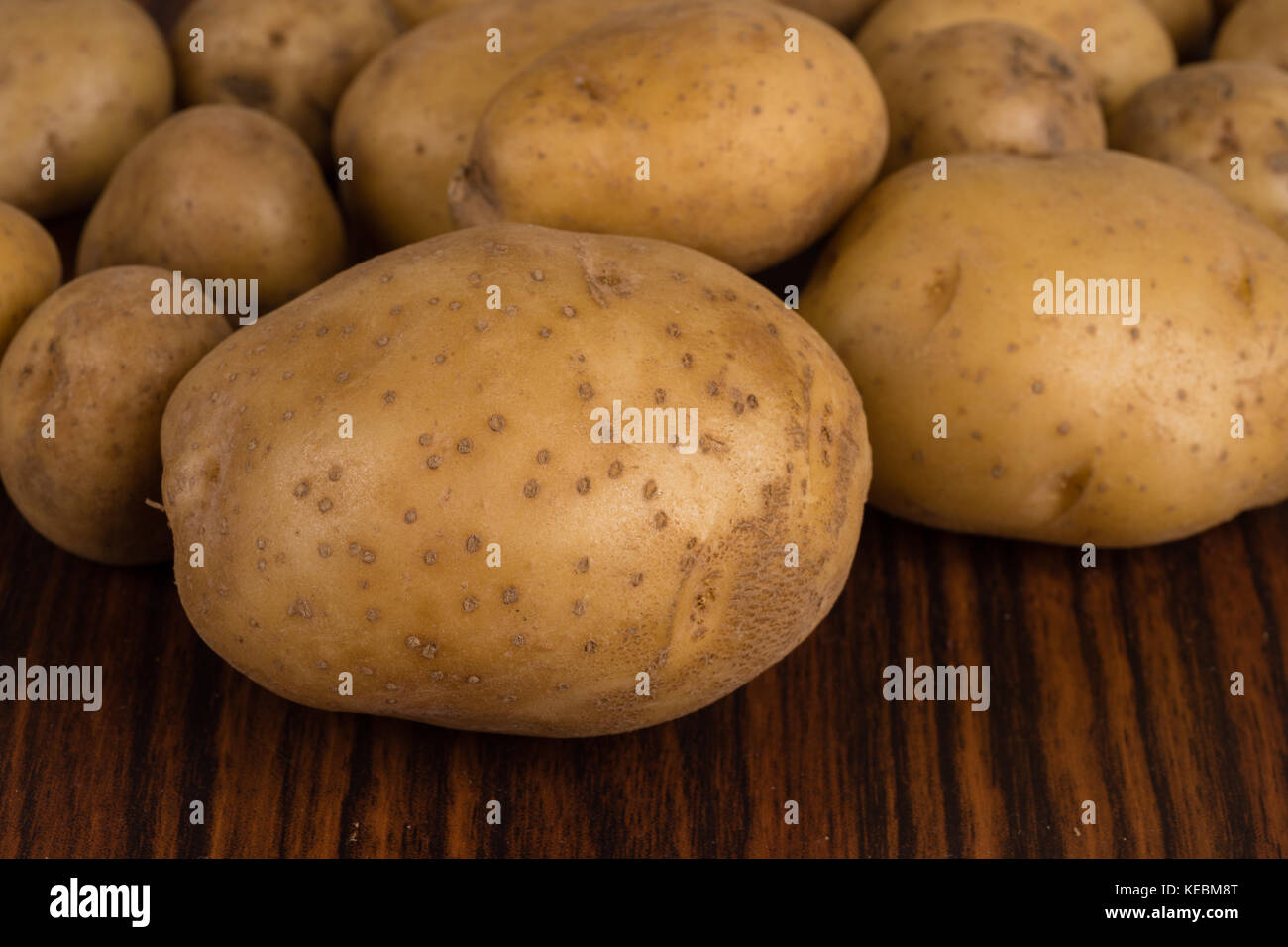 Pile of raw potatoes Stock Photo