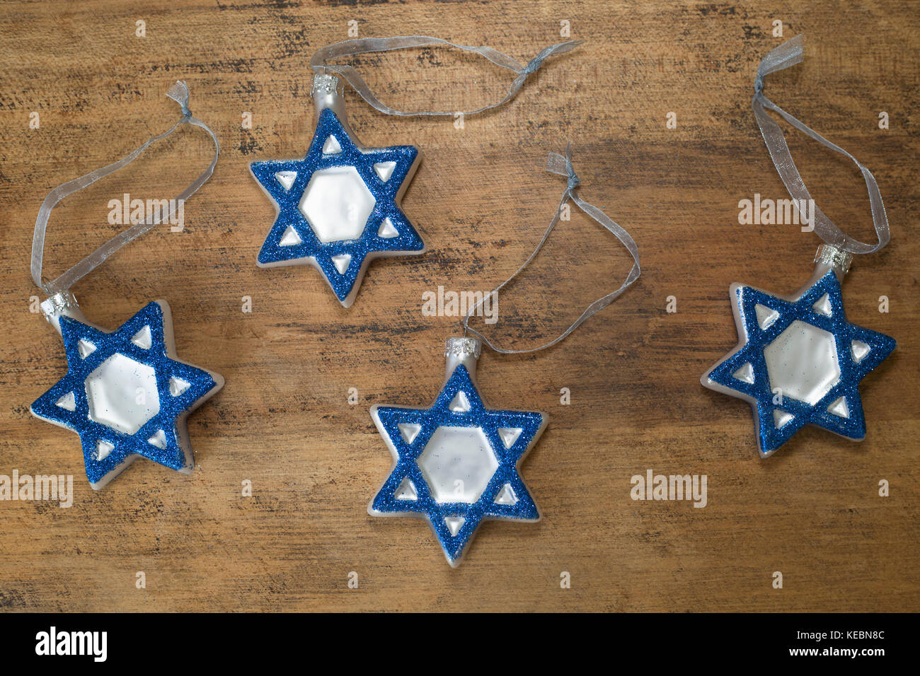 Hanukkah decorations - Stock Image