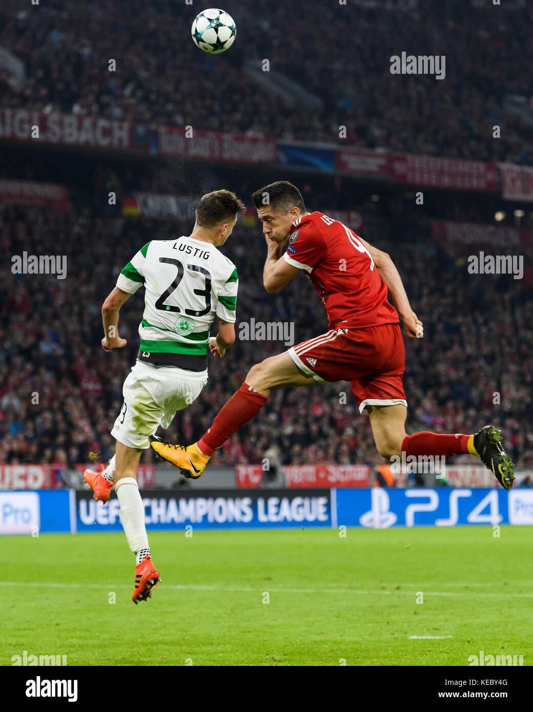 Robert Lewandowski Fcb Im Duels With Mikael Lustig