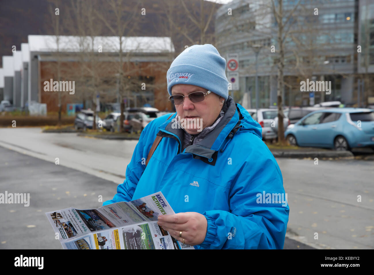 Tromso,Norway,19th October 2017,Overcast in Tromso, Norway©Keith Larby/Alamy Live News Stock Photo