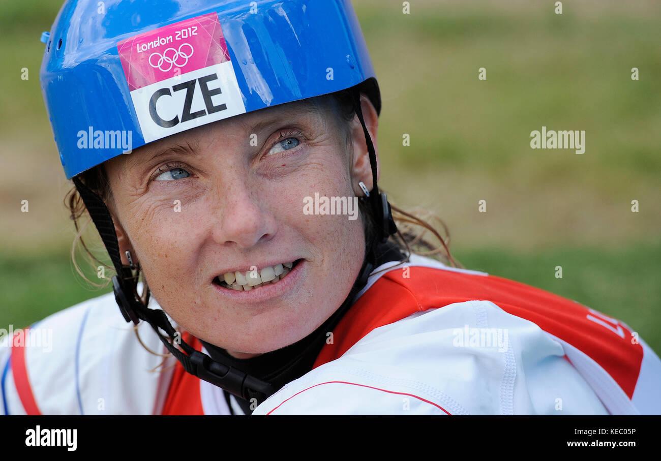 ***FILE PHOTO FROM 2012 Summer Olympics, London, August 2nd, 2012.*** Czech kayaker Stepanka Hilgertova, a double - Stock Image