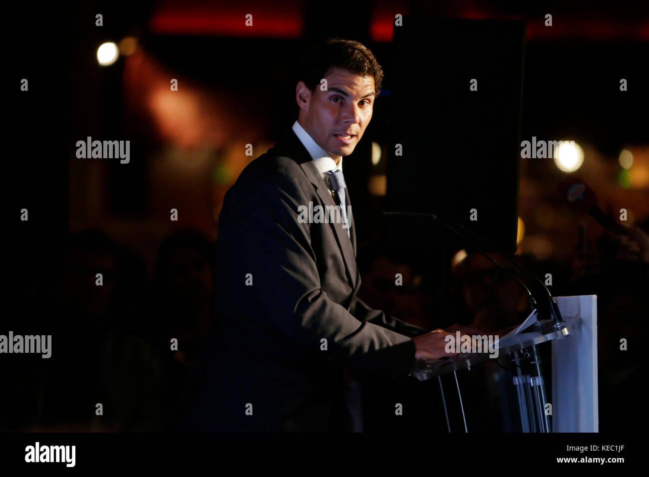 Rafa Nadal during the celebration of the Awards Leones ''El Español'' in Madrid , on Thursday, - Stock Image