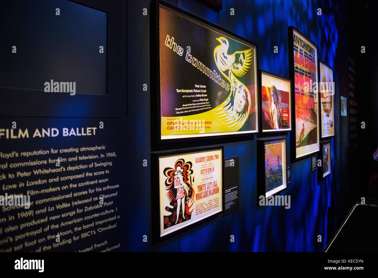 London, London, UK. 15th Oct, 2017. The Pink Floyd exhibition were holds in London at Victoria and Albert Museum Stock Photo