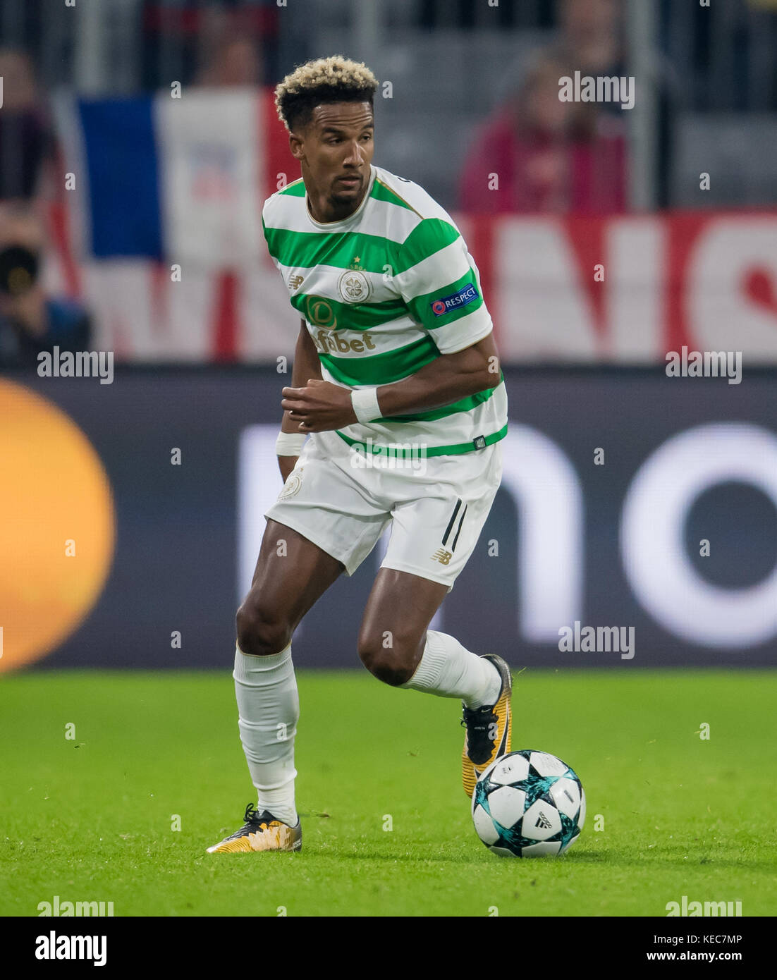 Munich, Germany. 18th Oct, 2017. Glasgow's Scott Sinclair in action during the UEFA Champions League soccer - Stock Image
