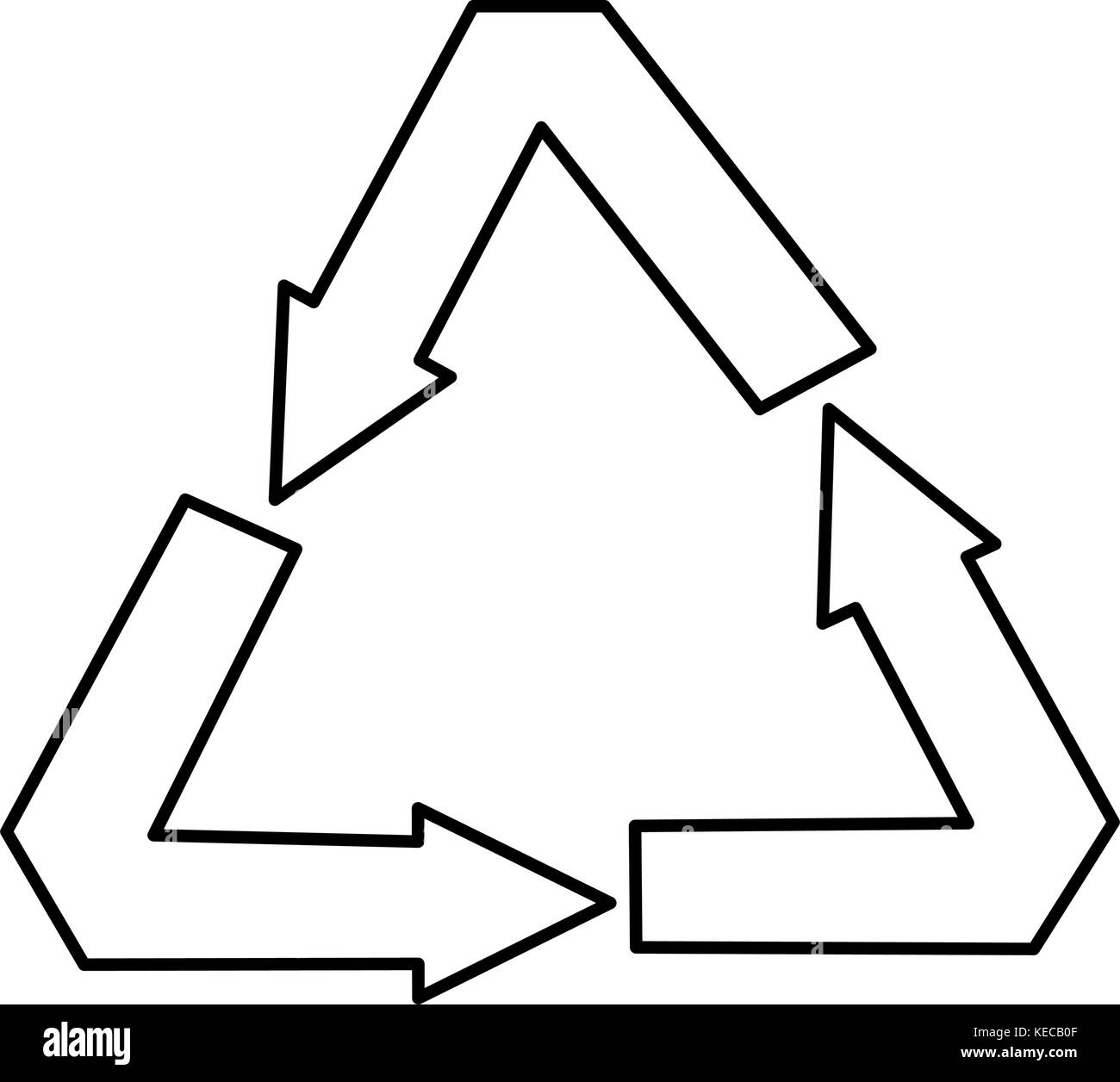 Recycling Symbol Black And White Stock Photos Images Alamy