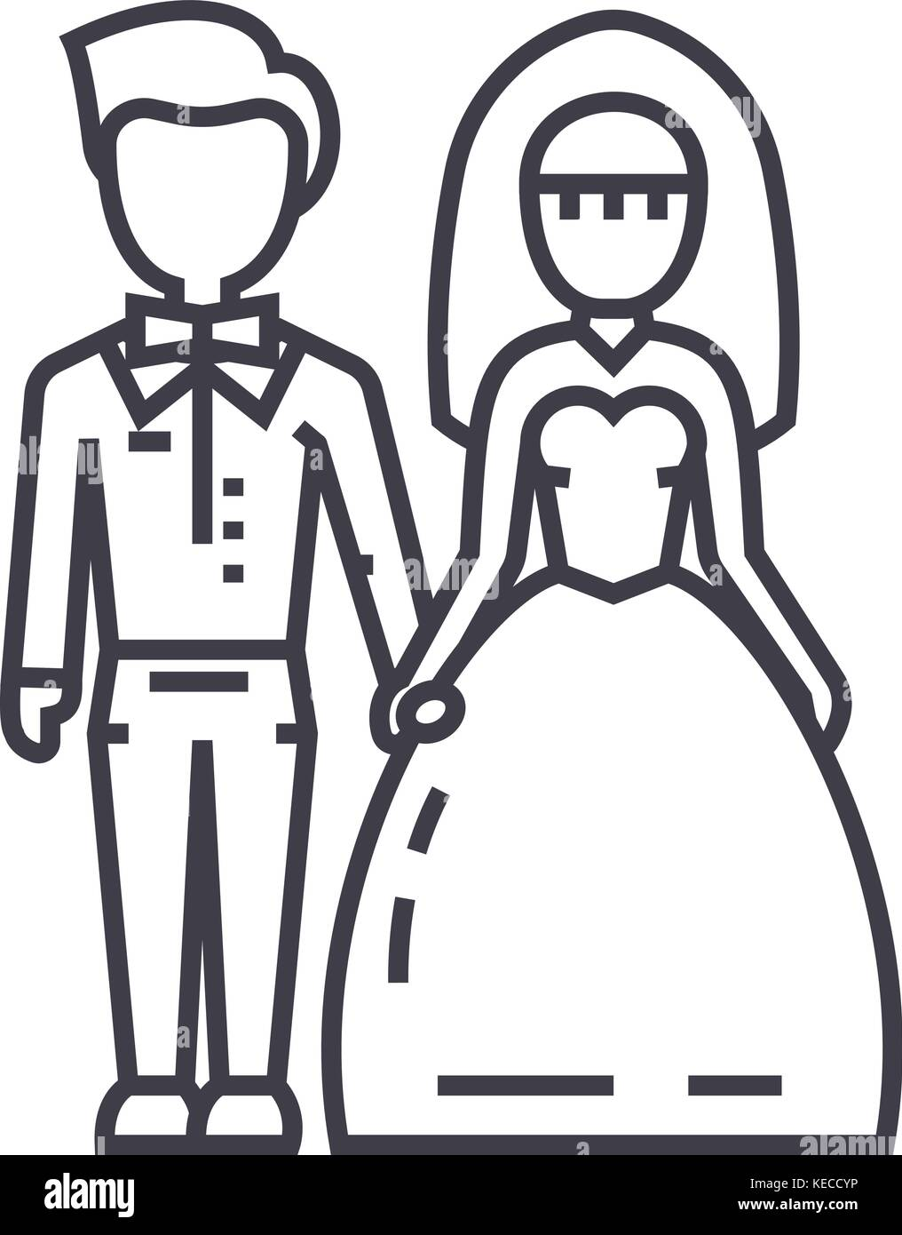 Vector Illustration Married Couple On Stock Photos & Vector ...
