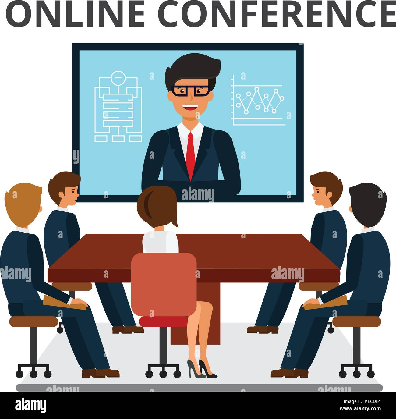 Business People Meeting Web Conference In Office Corporate
