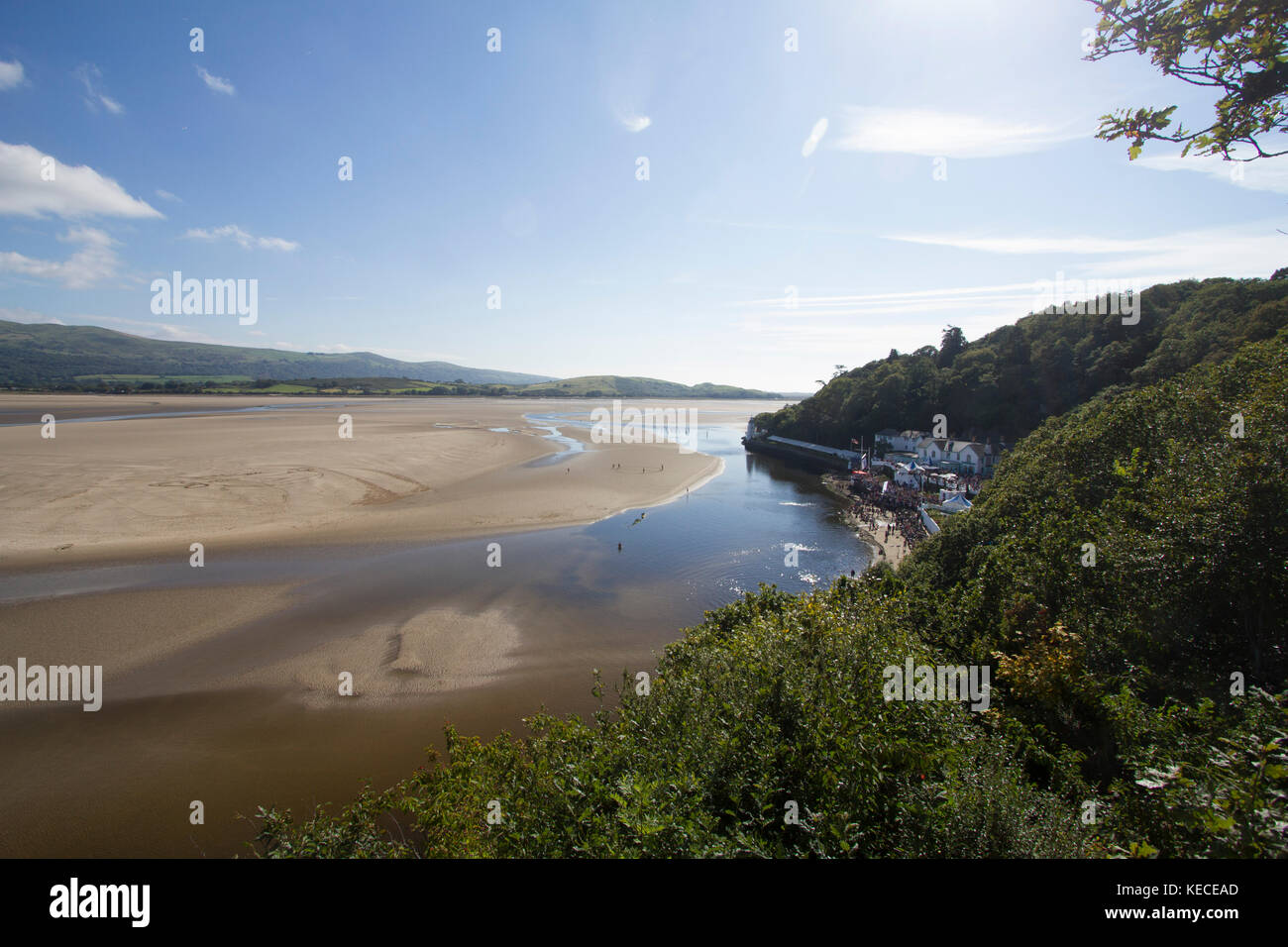 Portmeirion village in Wales. Stock Photo