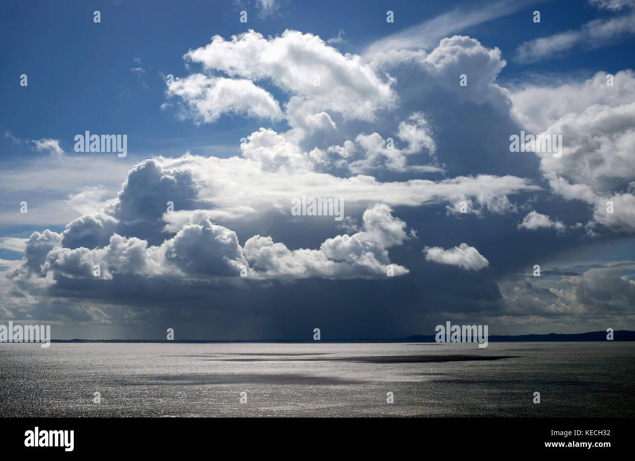 Rainclouds over Bangor, County Down Stock Photo