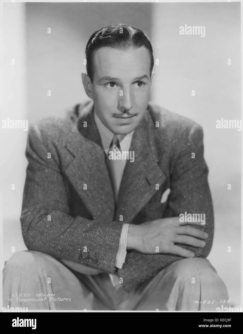 Actor Lloyd Nolan, Publicity Portrait, Paramount Pictures, 1939 - Stock Image