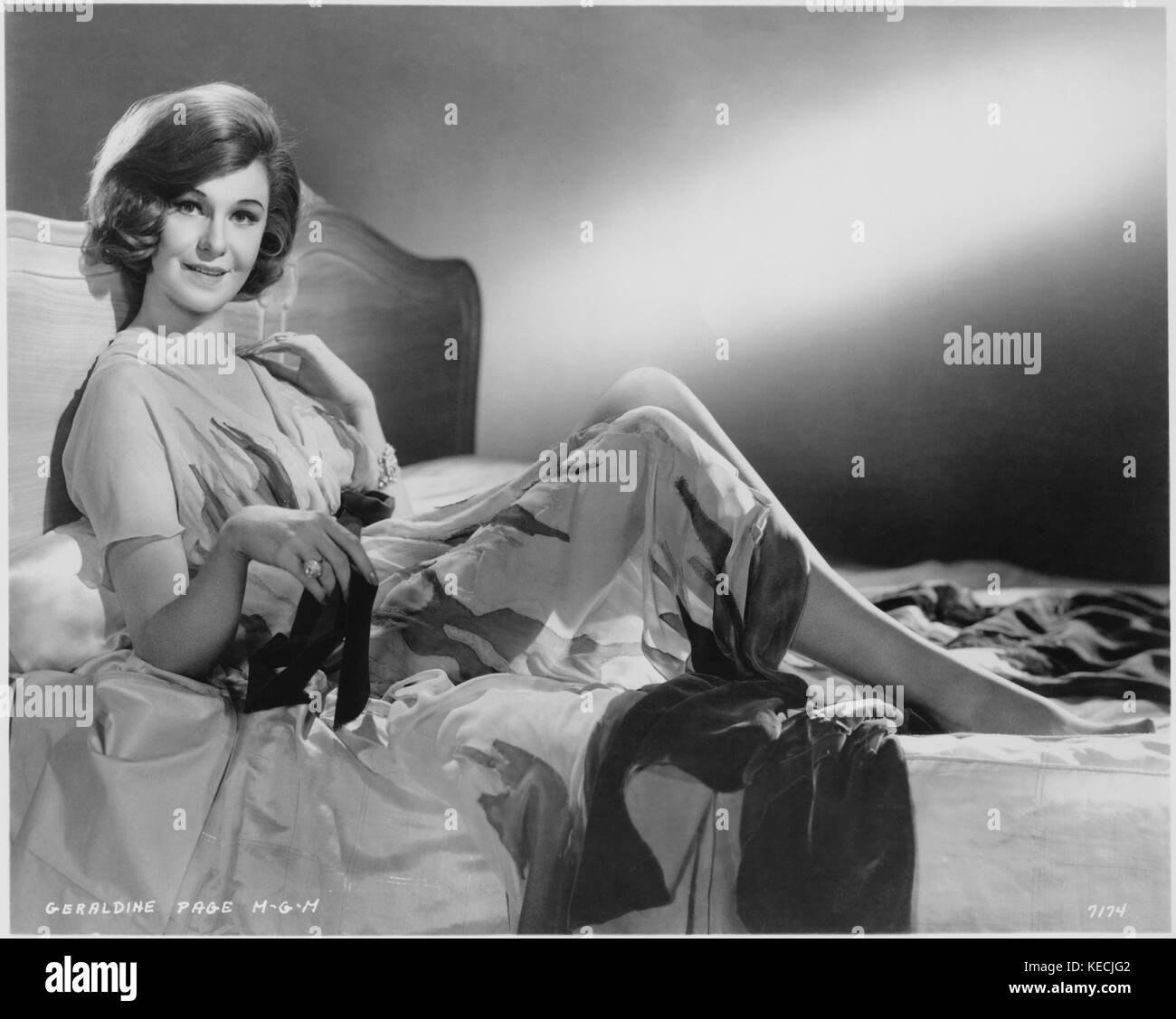 """Geraldine Page, on-set of the Film, """"Sweet Bird of Youth"""", MGM ..."""