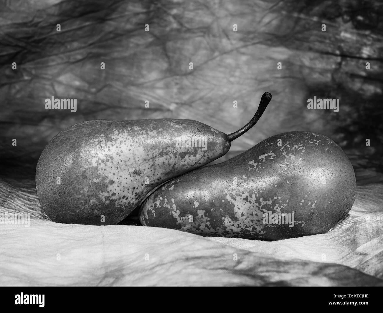 Pears harvest. Fruit background. - Stock Image