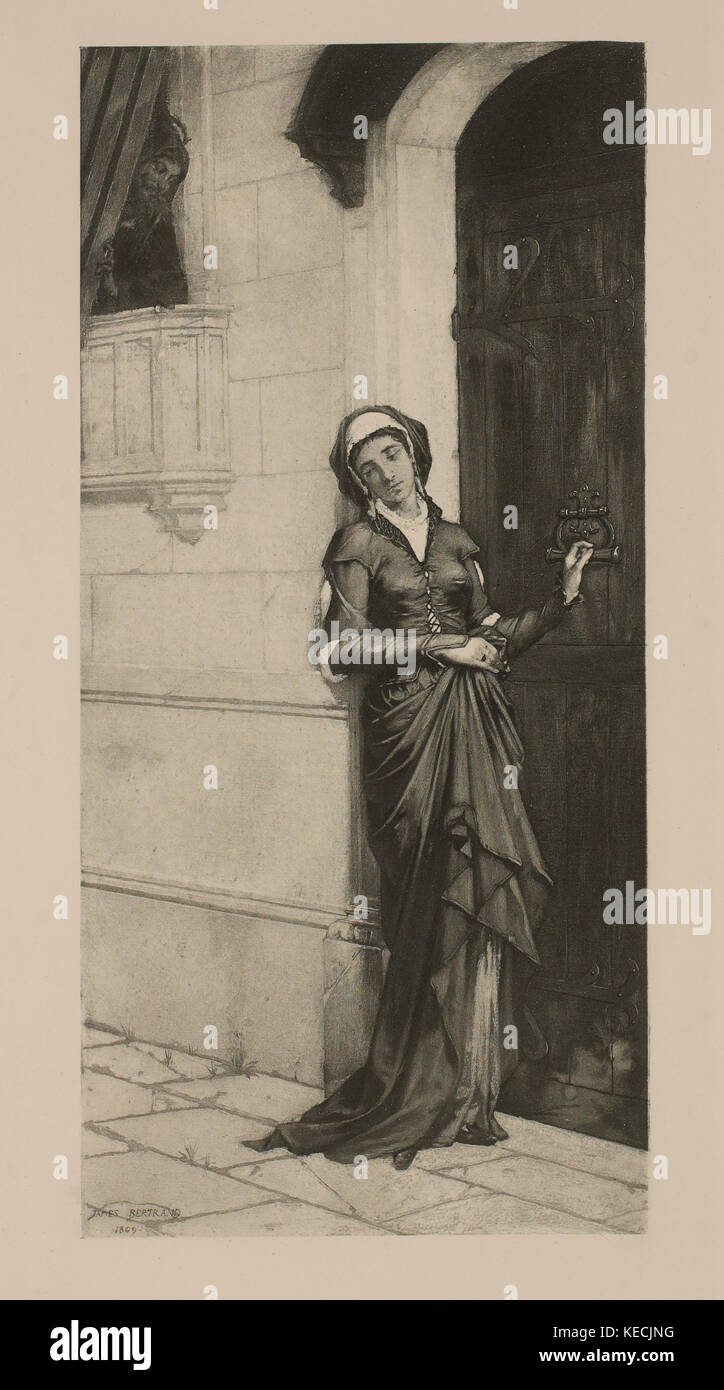Marguerite Betrayed, from Goethe's Faust, Photogravure Print from  the Original 1869 Painting by James Bertrand, - Stock Image