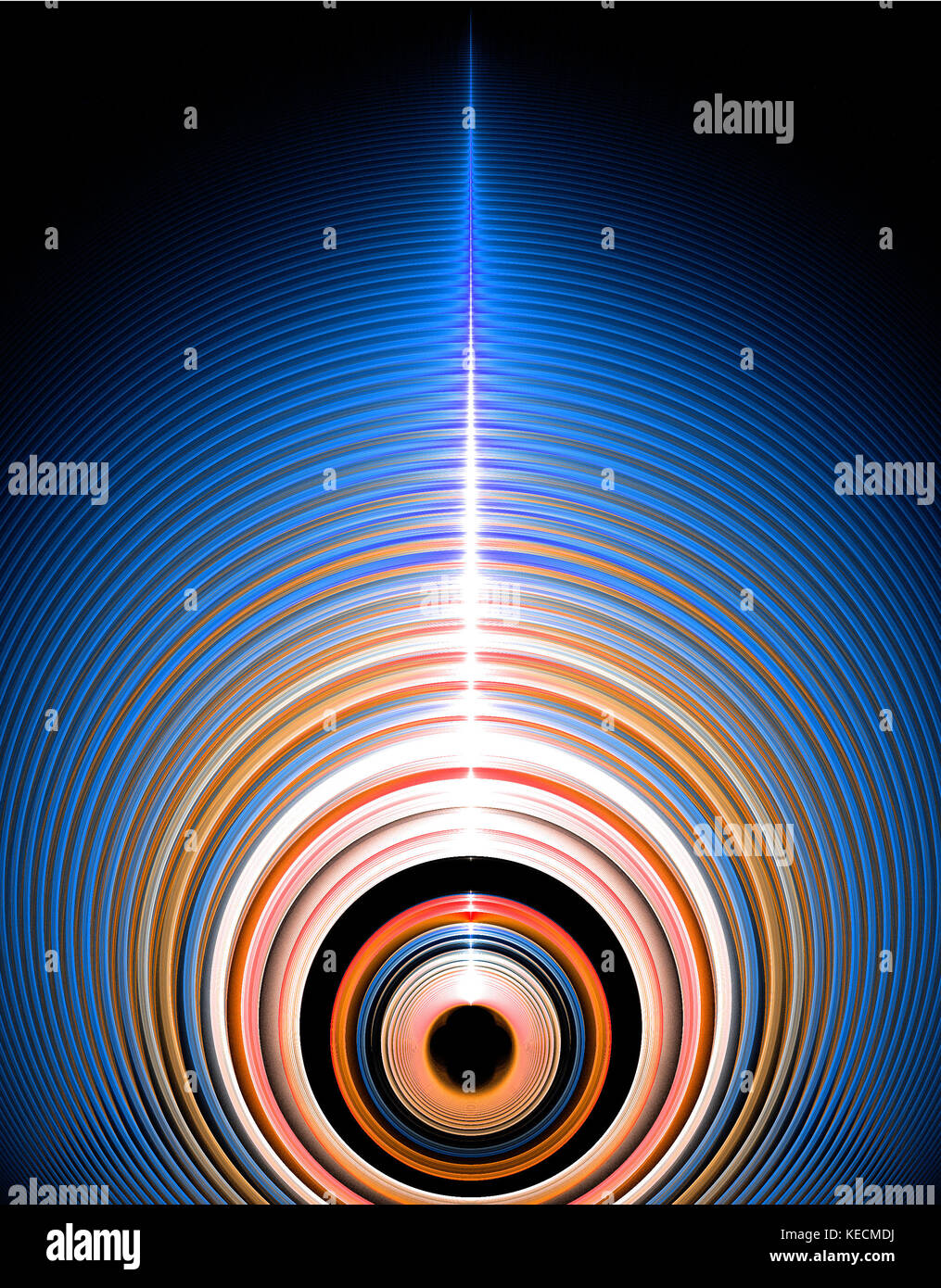 A large spherical object spinning at one million revolutions per second. - Stock Image