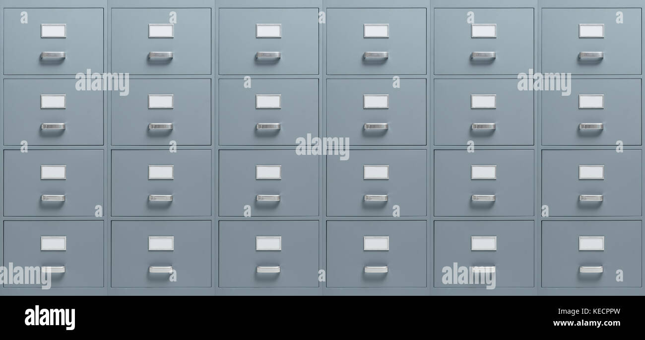Wall Mounted Filing Cabinets, Business And Administration Concept