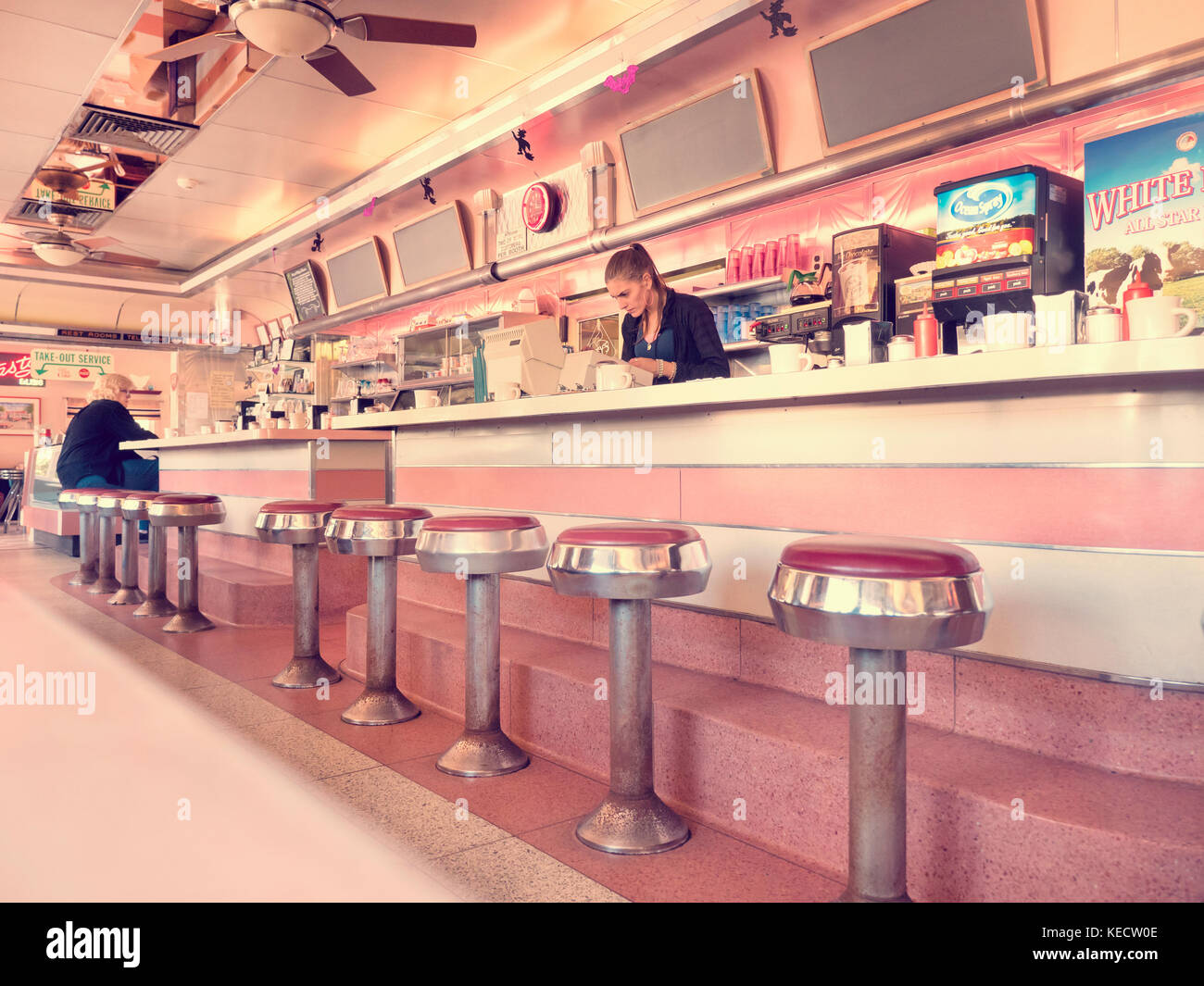 1950s Diner High Resolution Stock Photography And Images Alamy
