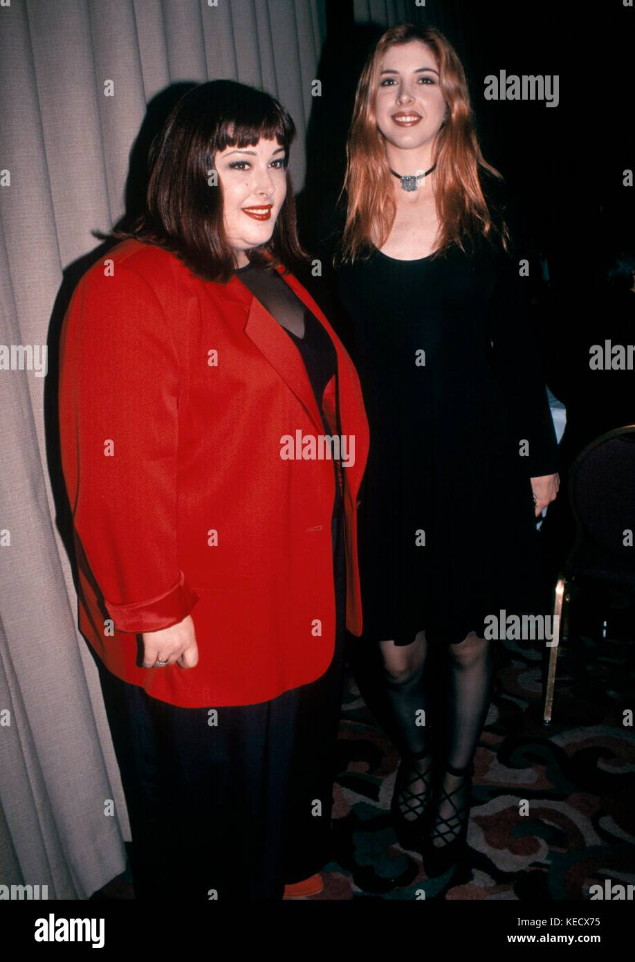 Carnie Wilson of Wilson Phillips pictured with Wendy Wislon in New York City.  June 1993.  © RTTalesnick /MediaPunch - Stock Image