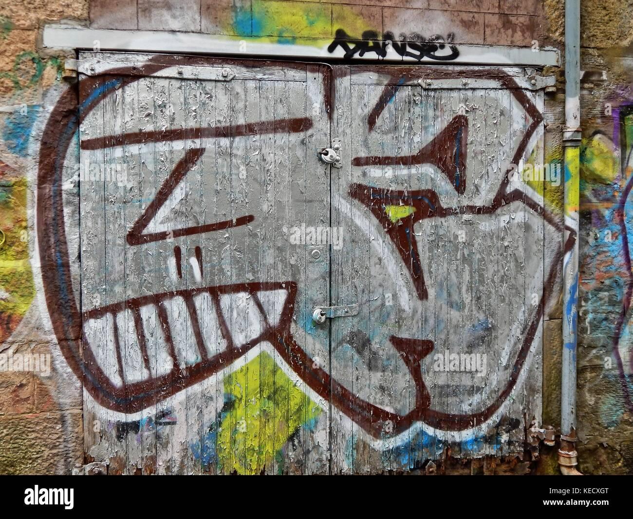 Edinburgh graffiti stock image
