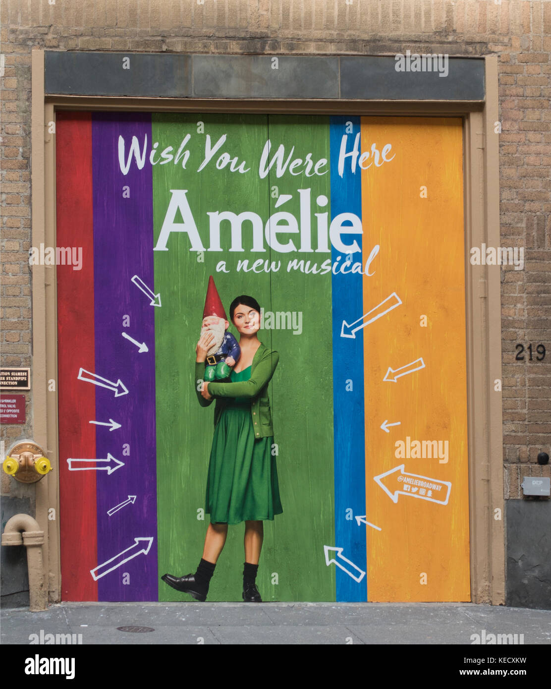 Amelie Broadway theater marquee NYC Stock Photo